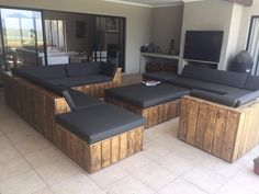 Ideas for pallet furniture sectional products Patio Furniture Cushions, Couch Furniture, Pallet Furniture, Outdoor Furniture Sets, Furniture Design, Corner Furniture, Trendy Furniture, Simple Furniture, Contemporary Furniture