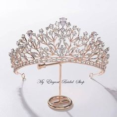 Silver Wedding Crowns, Gold Bridal Crowns, Bridal Tiara, Gold Wedding, Wedding Tiaras, Hair Jewelry, Wedding Jewelry, Jewlery, Or Rose