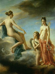 Georges Rouget - Amor begs Venus to forgive Psyche. Tags: amor, cupid, eros…