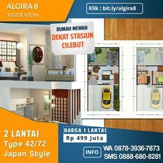 Rumah mewah 2 lantai termurah di kelasnya.  Pusat kota Bogor akses melalui Jalan Karadenan Kedung Halang tembusan ke Stasiun Cilebut