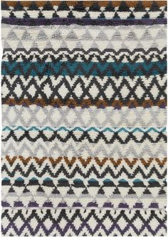 Hand-Woven Hornsey Tribal New Zealand Wool Rug (2' x 3')
