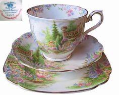 Vintage Royal Albert Kentish Rockery Tea Trio Cup Saucer Plate England in Pottery, Glass, Pottery, Porcelain, Royal Albert | eBay