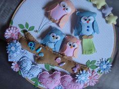 Beautiful craft - Owl family ~ Corujinhas para Gêmeos by Lilian Janine ~