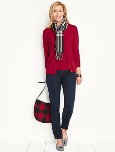 How To Wear Stylish Cardigan For Work 46 60 Fashion, Fashion Over 50, Fashion Outfits, Womens Fashion, Classy Winter Outfits, Fall Outfits, Casual Outfits, Red Cardigan Outfits, Mode Shoes
