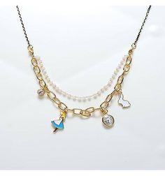 甜美童話愛麗絲手鍊/項鍊 - ONNI 韓系平價內衣飾品 언니