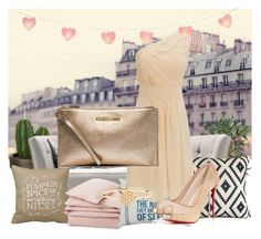 """""""Nude & Gold"""" by nene-chan on Polyvore featuring Mode, MICHAEL Michael Kors, Christian Louboutin, AND, John Lewis und Lexington"""