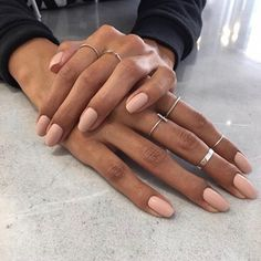 """If you're unfamiliar with nail trends and you hear the words """"coffin nails,"""" what comes to mind? It's not nails with coffins drawn on them. Although, that would be a cute look for Halloween. It's long nails with a square tip, and the look has. Hair And Nails, My Nails, Oval Nails, Nails Inc, Nagel Blog, Gel Nagel Design, Nail Polish, Manicure E Pedicure, Mani Pedi"""