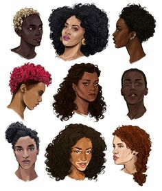 38 Ideas Hair Women Illustration Black Art For 2019 Black Girl Art, Black Women Art, Black Art, Art Girl, Black Girls, Natural Hair Art, Natural Hair Styles, Hair Reference, Afro Art