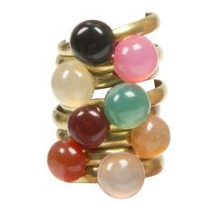 Golden rings with gemstones!