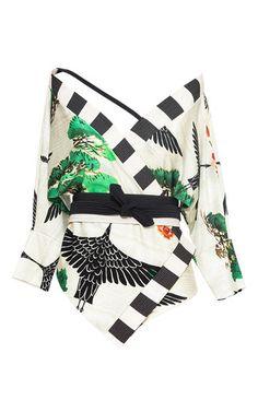 Lenny Niemeyer Bonsai Kimono Maillot Swimsuit
