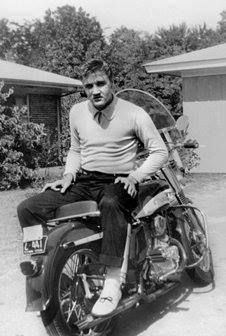 Sometime in 1955 after earning a regular income as a performing artist Elvis purchased his first Harley Davidson. It was a small 1956 Harley Davidson ST 165 (VIN: #56ST1603), basically an entry level motorcycle which he likely used to learn to ride. It was a 165cc motorcycle, and by January of 1956 he had outgrown it and was ready to move up to bigger bikes like this 1956 KH.