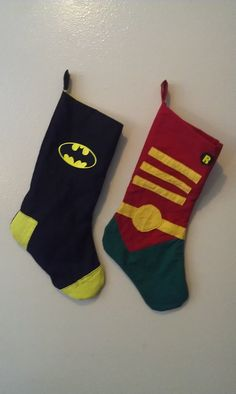 Hey, I found this really awesome Etsy listing at https://www.etsy.com/listing/168082566/batmanrobin-stocking-set