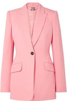 f7b8ca23110 Alexander McQueen Wool-blend Blazer - Baby pink Alexander Mcqueen Boots