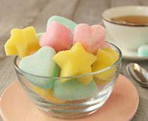 Flavored Sugar Cubes - 1 c sugar - 1 tbsp water  - Food coloring - 1/8 tsp flavoring (optional)