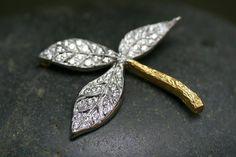 Cathy Watetrman, platinum, 22-kt gold and diamonds pendant