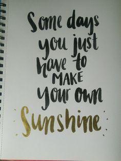 Brush lettering quote