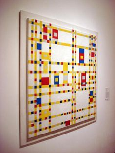 """Broadway Boogie Woogie"" (1942-43), Piet MONDRIAN (MoMA)    I really love it."