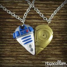 R2D2 & C3PO Best Friends Necklace Set $32