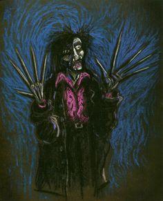 Edward Scissorhands concept art by Tim Burton.