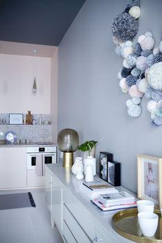 Pièce pastel, Inspiration // Appartement Marie Sixtine par Sandrine Place et Baptiste Legué