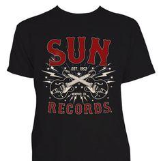 Sun-Records-Mens-Guitar-Bolts-Rockabilly-T-Shirt-Tattoo-Kustom-Retro-Vintage