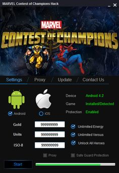 Marvel Contest of Champions Hack Cheat Unlimited Gold Units | Mod Hacks