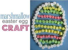 DIY easter crafts DIY Marshmallow Easter Egg DIY easter crafts