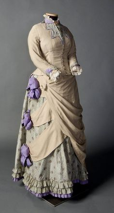 fripperiesandfobs:  Day dress ca. 1882-85 From the Smith College...