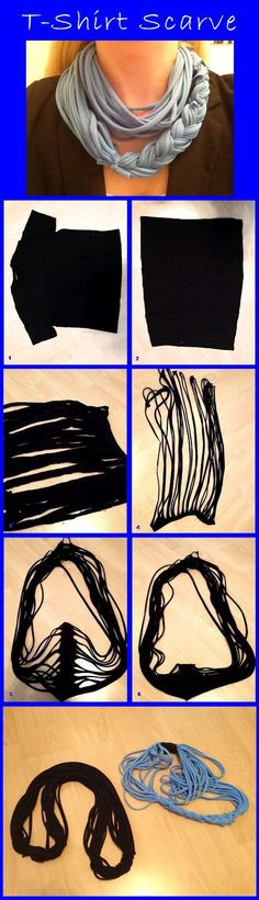 DIY Easy To Make T-Shirt Scarf