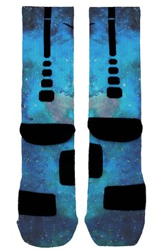 The first ever baby blue galaxy socks inspired by traditional galaxy prints but with a unique baby blue twist. Soccer Outfits, Sport Outfits, Soccer Clothes, Sporty Clothes, Nice Clothes, Nike Elite Socks, Nike Socks, Basketball Socks, Softball Socks
