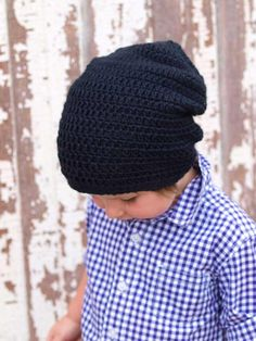 Something for the boys! Slouchy Beanie Crochet Slouchy Hat Available size by CrochetbyYJ, $20.00