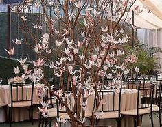 Galhos secos (Árvore Francesa) em decorações de Casamento   Clássico Noivas