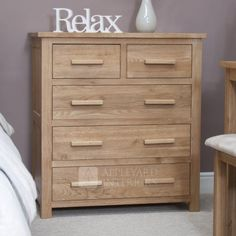 Opus Oak 2 Over 3 Drawer Chest Made from the finest quality European Opus Oak £417.78