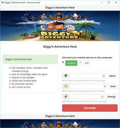 Download Diggy's Adventure Hack for free below, no surveys, no viruses, working 2016 hack. Diggy's Adventure is an exiciting, casual game for Android and iOS made by Pixel Federation. In this game, you make your own camp and customize it upon your needs. You discover hidden treasures and... https://hacksource.net/diggys-adventure-hack/