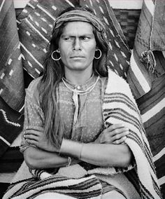 Hopi man, Big Navaho, in native regalia. Photographed: 1879. - National Anthropological Archives, Smithsonian Institution.