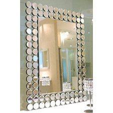 Ablaze Art Deco Contemporary Petra Mirror