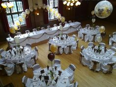 Black & White 50th Birthday, Chair Covers & Balloons, Riverside Club Chesterfield from A. S. PARTY | Photo 6