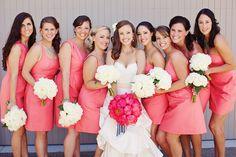 Sweet Papaya Bridesmaid dresses. JCrew