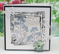 Tattered Lace Dies, Starlight Collection Using - Starlight Square (D594), Ferns…