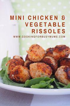 mini chicken & vegetable rissoles