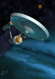 The Consitiution class Enterprise from the original Star Trek series