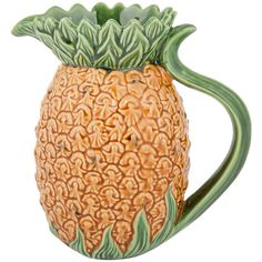 Bordallo Pinheiro Pineapple Pitcher ($79) ❤ liked on Polyvore featuring home, kitchen & dining, serveware, yellow, drink pitcher, pineapple pitcher, beverage pitcher, bordallo pinheiro and water pitcher