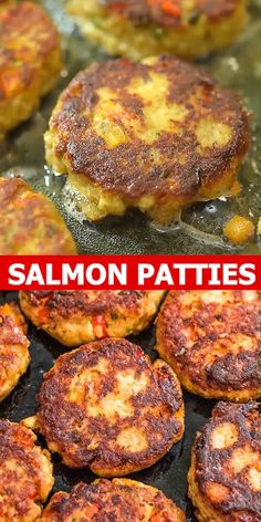 Salmon Patties - This Easy Salmon Patty recipe is definitely a keeper. Made with canned salmon and simple ingredients - Fish Dishes, Seafood Dishes, Seafood Recipes, Vegetarian Recipes, Dinner Recipes, Cooking Recipes, Healthy Recipes, Gourmet Recipes, Salmon Patties Recipe