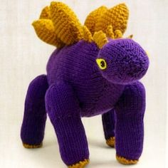 Knit up a dino buddy with this free Stegosaurus pattern.