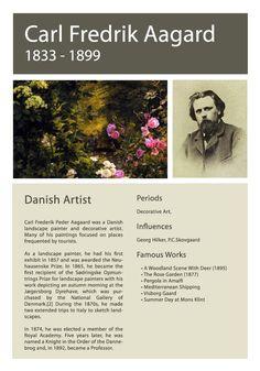 Artist Info Sheet Carl F Aagard