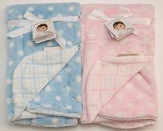 3432b93421d6 Blankets   Beyond Plush Baby Blanket ~ Blue Pink ~ Baby Boy Girl~ 28