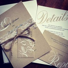 The Look of Kraft Paper for Less Original Wedding Invitations, For Less, Tight Budget, Kraft Paper, Historical Sites, Happily Ever After, Digital Prints, Envelope, Paper Crafts
