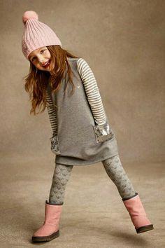 Armani Junior outfit - Organize in Little Girl Outfits, Little Girl Fashion, Toddler Fashion, Kids Fashion, Trendy Fashion, Little Fashionista, Outfits Niños, Stylish Kids, Kind Mode