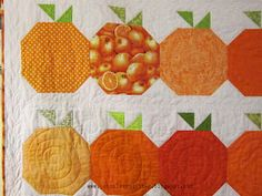 This quilt is inspired by A Little Bit Biased pattern called Fresh Squeezed. Made by Barbara from Pointless Quilter