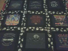 Harley Davidson T-shirt Quilt (Kreg's Quilt)